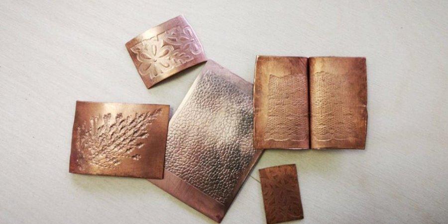 textures imprimées au laminoir