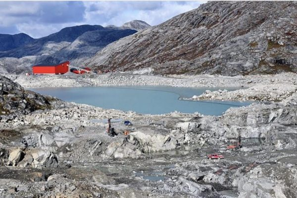 La mine de rubis Aappaluttoq au Groenland,